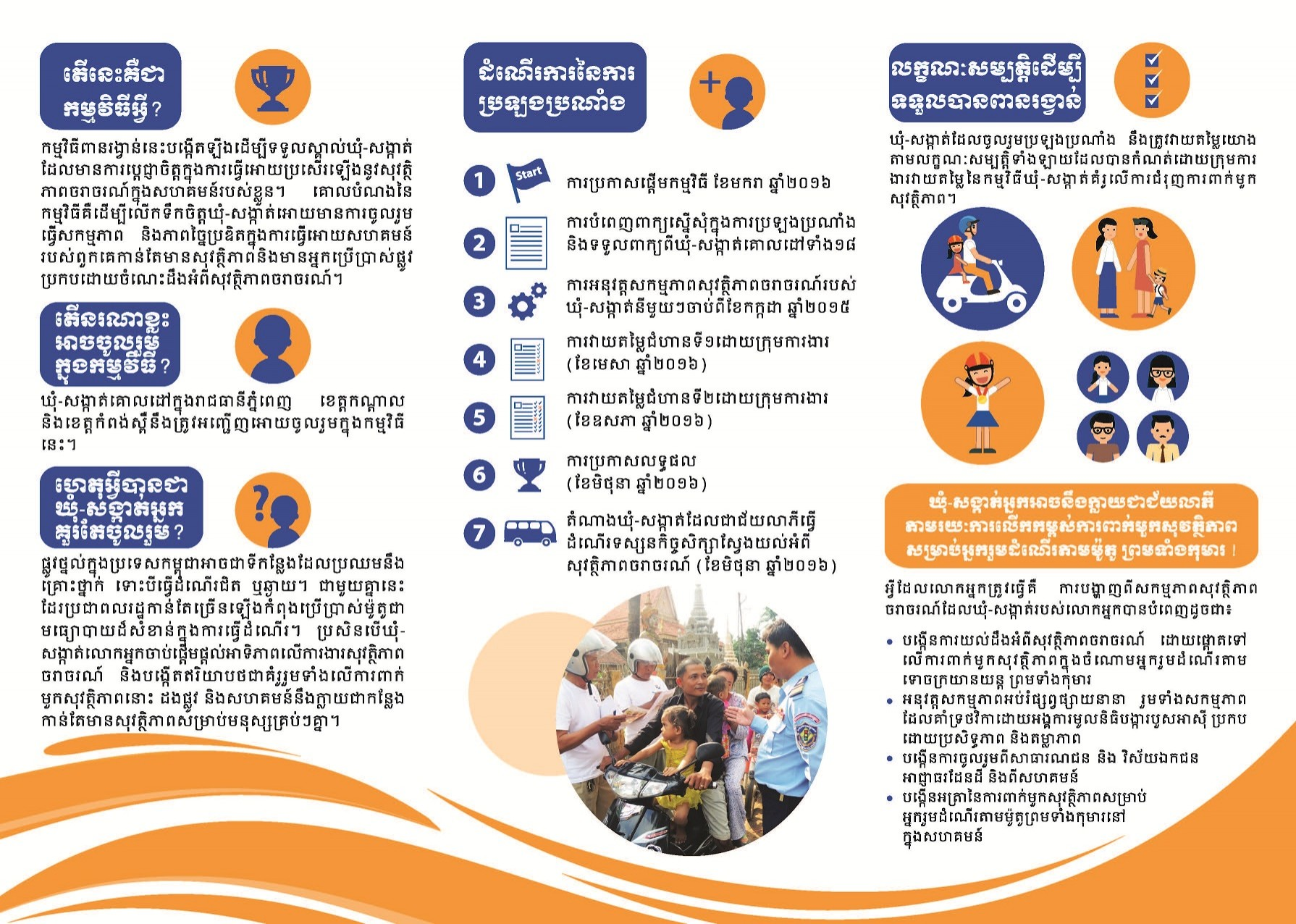 Flyer on commune of excellence in helmet use 2