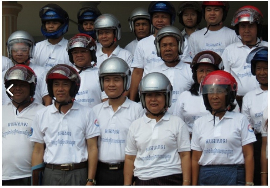AIP Foundation partakes in National Road Safety Week to support road safety awareness with upcoming Khmer New Year celebrations